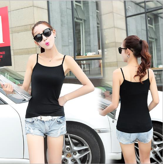 Woman Singlet Female Girl Ladies Lady T-Shirt clothing tank black