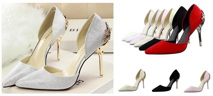 42d5f1e1857 Women 10cm High Heels Shoe Wedding Dinner Bride White Silver Red. ‹ ›