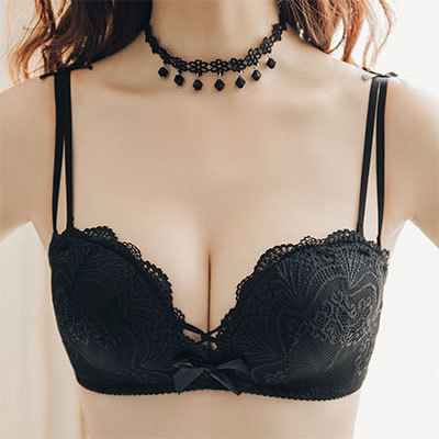 d769a7b9defc2 Women Anti-Sagging Bra No Steel Ring Sexy Japanese Fashion Lace Underw