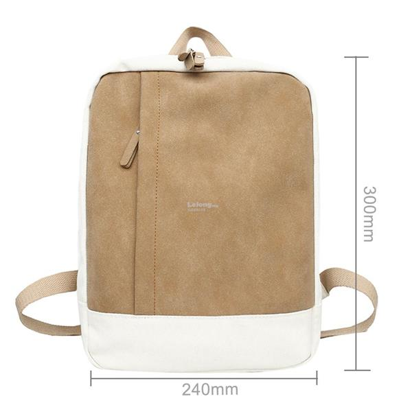 Women Backpacks Girls Patchwork Color Canvas Shoulder Bag Schoolbags f9164dfff6