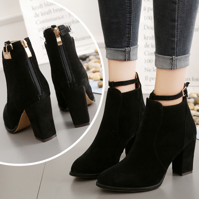 women booties high heel shoes thick end 5/4/2021 1200 am