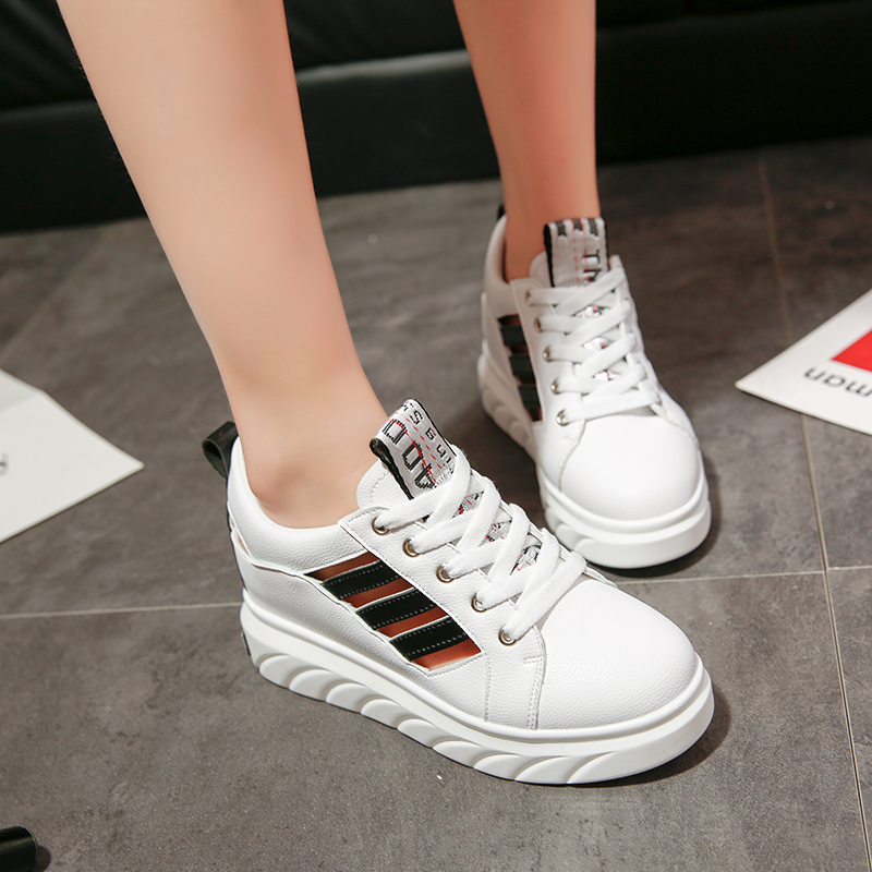 Women Breathable Sports Rubber Shoes Muffin Thick Heels Wild Plus Size 01e2ff180f
