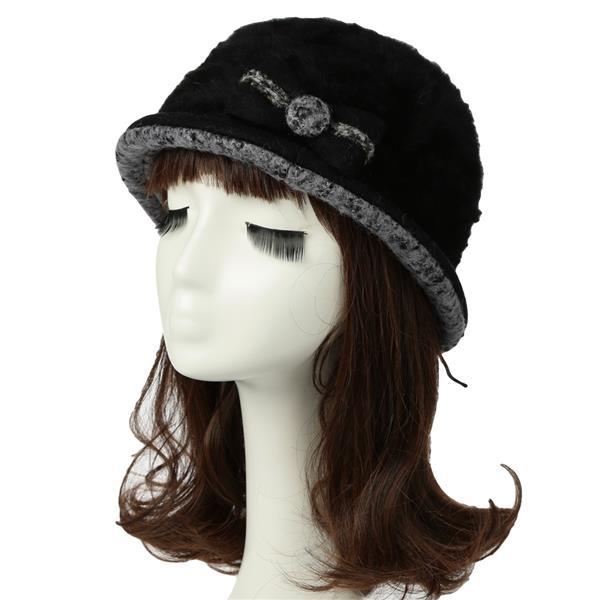 f499a38dc6743 Women Bucket Hat Faux Rabbit Fur Bow (end 6 20 2020 2 26 AM)