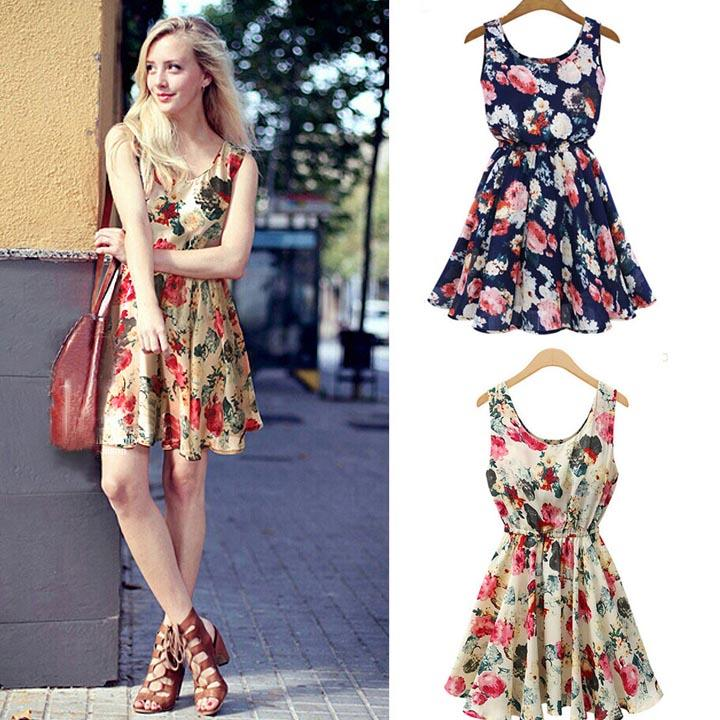 Women Casual Floral Print Summer Beac end 622015 723 PM