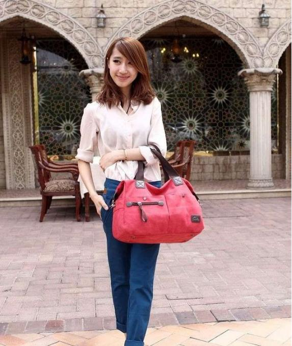 64e94b4bed Women New Design European Canvas Hand Bag  Shoulder Bag  Sling Bag