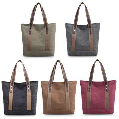 b5f0dc85369b Women Fashion Shoulder Bag Casual Cotton Canvas Female Travel Handbag (ARMY  GR