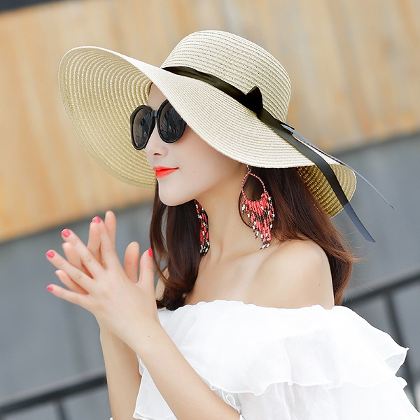 Women Foldable Big Summer Hat Beach H (end 4 4 2020 3 26 PM) a72c4dfb06d