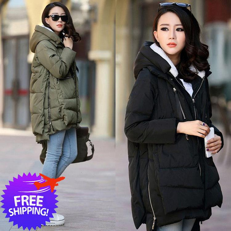 Women Hooded Down Cotton Autumn Winter Jacket Coat
