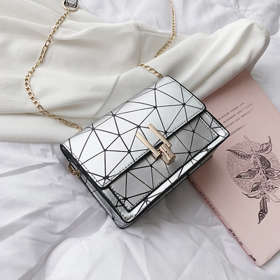 Women Korean Fashion Small Square Wild Geometric Chain Bag