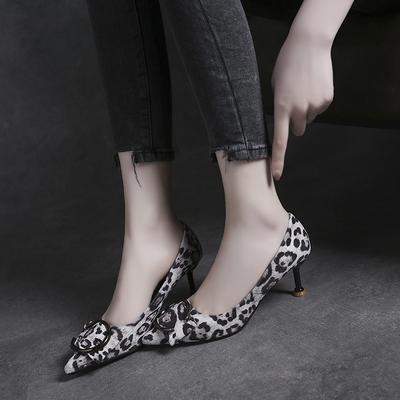 2eb06bcee9b Women Korean Sexy Fashion Suede Leopard Print High Heels Shoes