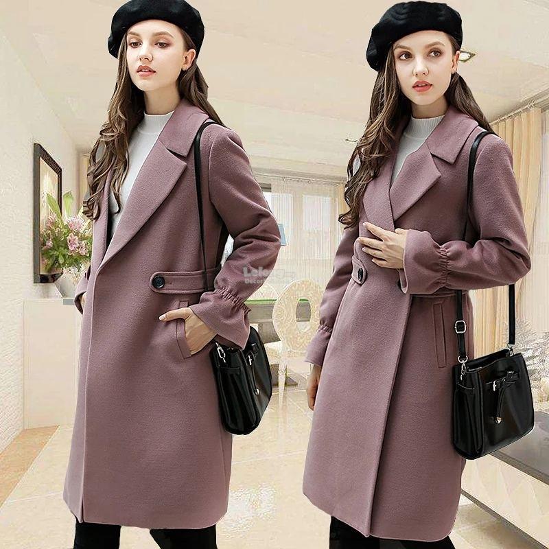 Women Korean style winter woolen coat (S,2XL)