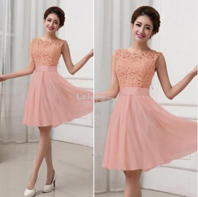 New Women Lace Full Bridesmaid Party Dress