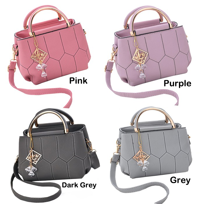 Women Ladies Handbag Top-Handle Bags With Long Belt Beg Tangan