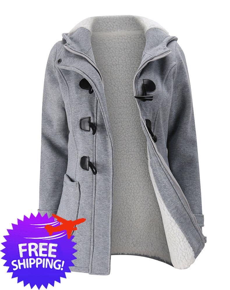13286c28c Women Lady Hooded Cotton Wool Winter Autumn Jacket Sweat Shirt