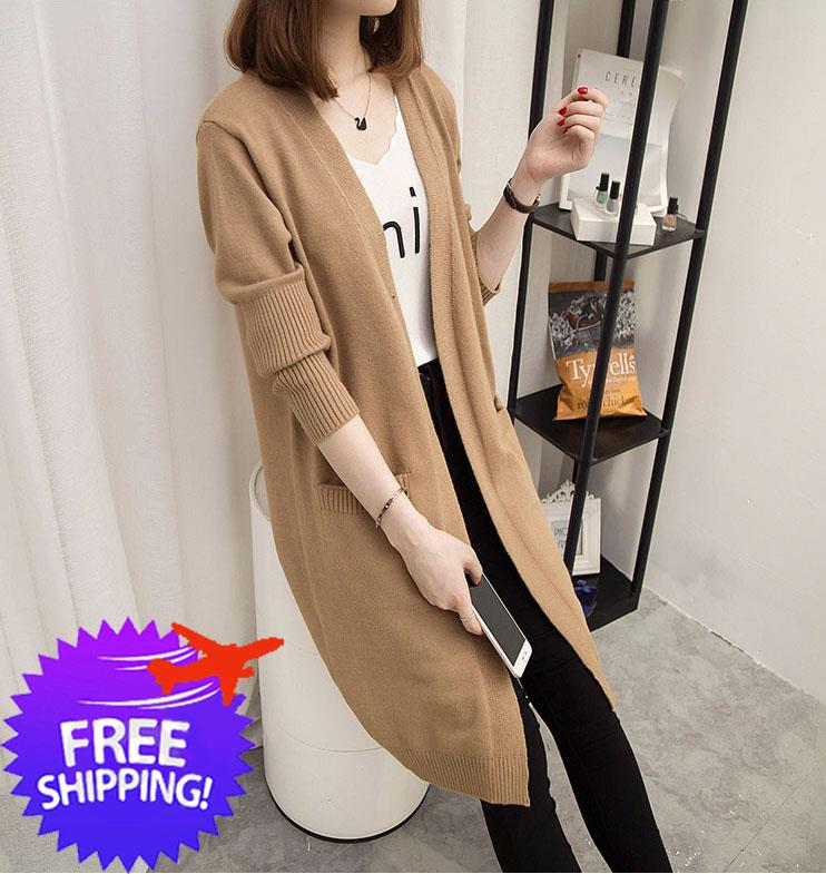 Women Lady Knee Length Knitting Cardi End 912019 114 Am