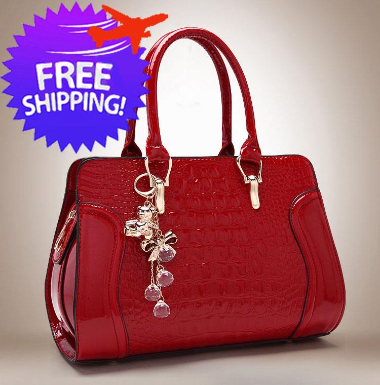 Women Lady PU Leather Crocodile Patte (end 3 6 2020 6 10 PM) f833a443cfb13
