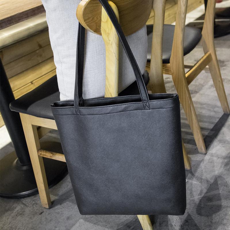 Women Leather Casual Shoulder Bag Minimalist Style Commuter Bag Ladies 7f131046c5e9a
