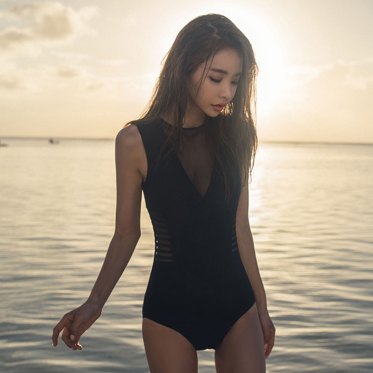 d026575d3adbf Women One Piece Conservative Cover Belly Slim Small Chest Swimsuit. ‹ ›
