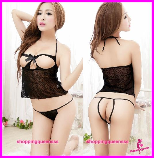 1ee7601cf3 Women Open Dress Costume Sexy Lingerie Sleepwear Pajamas (2 Colors)