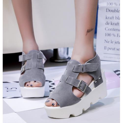 Women Open Toes Design Thick Bottom Casual Shoes (4 Color) MT022054