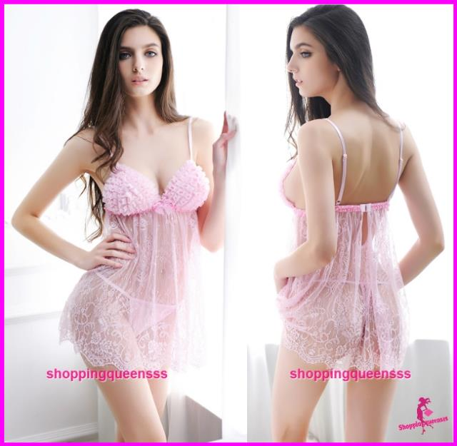 756e7647c Women Pink Lace See-Through Babydol (end 11/13/2019 6:39 PM)