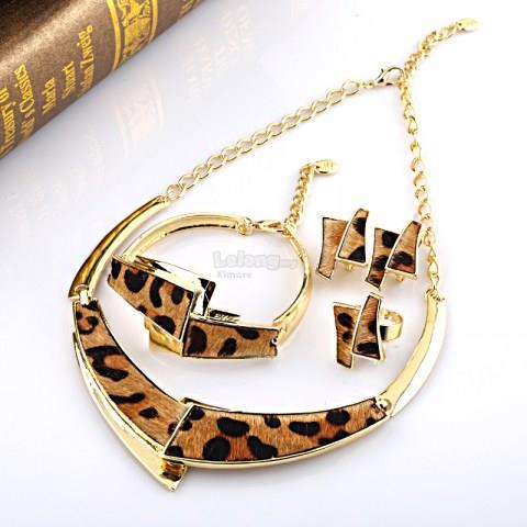 Women's  Alloy Leopard Print Set