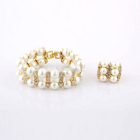 Women's Artificial Pearl Vintage-inspired Set