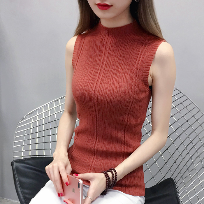 b22396d542 Women's Half-High Collar Knit Slim (end 3/29/2021 12:00 AM)