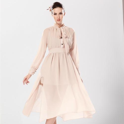 b6513758985b5 Women's Stylish Chiffon Dress Almond (end 8/6/2019 11:54 PM)