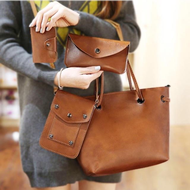 Women Set Handbag Sling Crossbody Bag Shoulder Bag Tote Bag (4 in 1) c377c7d6fa868