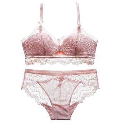 43ace46cb Women Sexy Japanese Beauty Underwear Set No Steel Cross Back Bra Lace