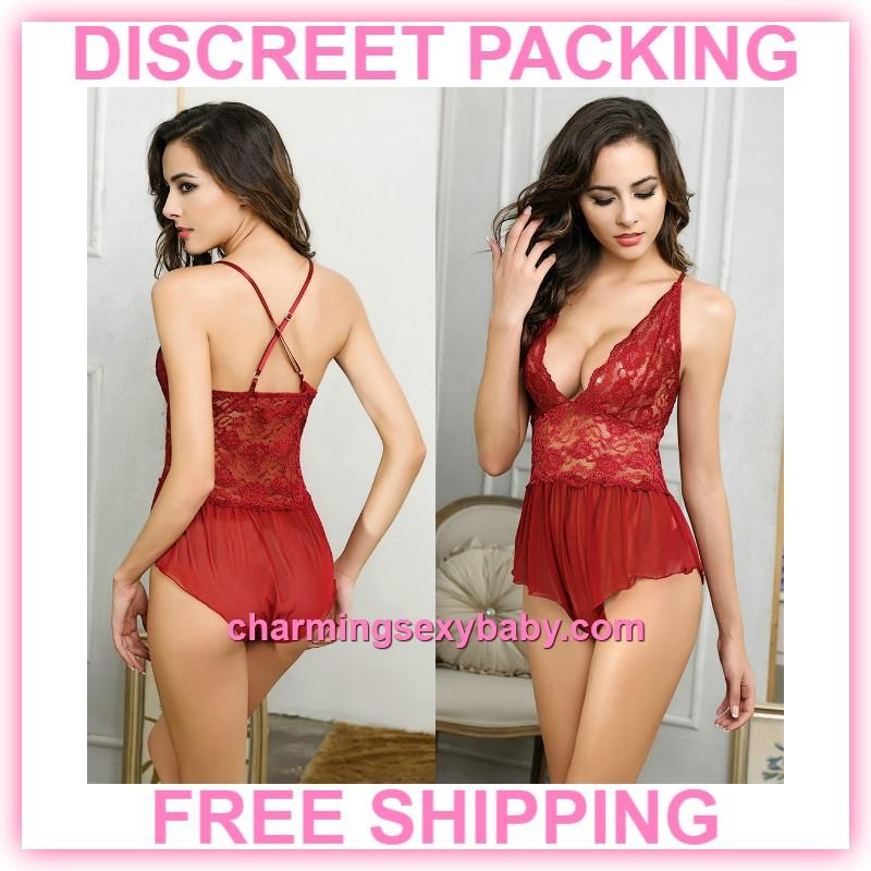 44cbaaa52 Women Sexy Lingerie Lace Deep V Ted (end 10 12 2019 1 40 AM)