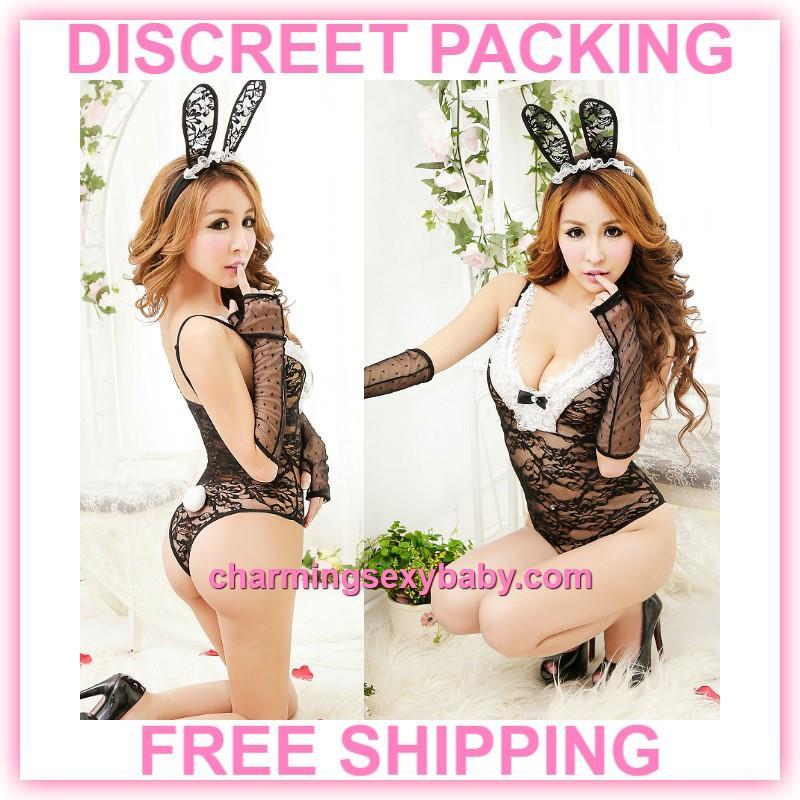 Women Sexy Lingerie Lace Rabbit Girl (end 1 30 2020 2 59 AM) 3d5cf24916
