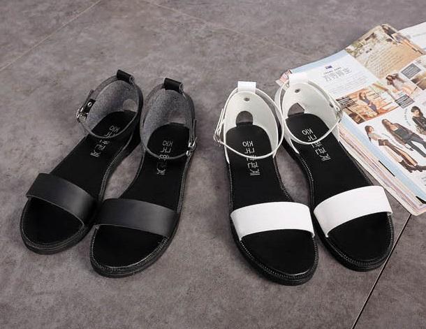 8a7b9d44508d0 Women Simple Design Casual Flat Sandals Shoes (2 Color) MT022397. ‹ ›