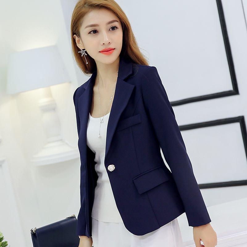74508362f4a9 Women Solid Color Casual Blazer Business Fashion Suit Ladies Plus Size