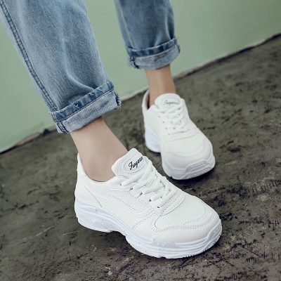 Women Sports Shoes Breathable Flat Casual White Shoes Plus Size Shoes