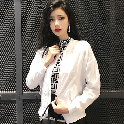 Women Student Wind Jacket Baseball Uniform Coat Casual Trend Jacket