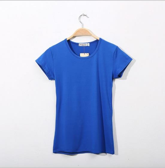 Women T Shirt Female Girl Ladies Lady T-Shirt clothing blue