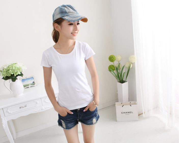 Women T Shirt Female Girl Ladies Lady T-Shirt clothing white