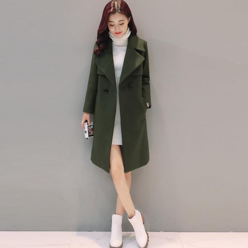 de8abc9b Women Woolen Jacket Autumn Winter Coat Thicker Jacket