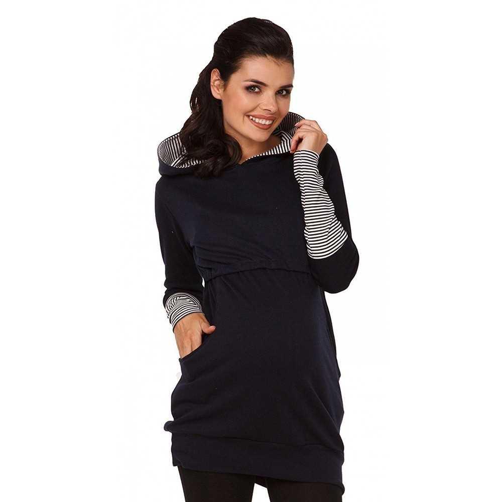 3c7f35bb6116f Womens Maternity Nursing Breastfeeding Hoodie Long Sleeves Sweatshirt Top  Clot. ‹ ›