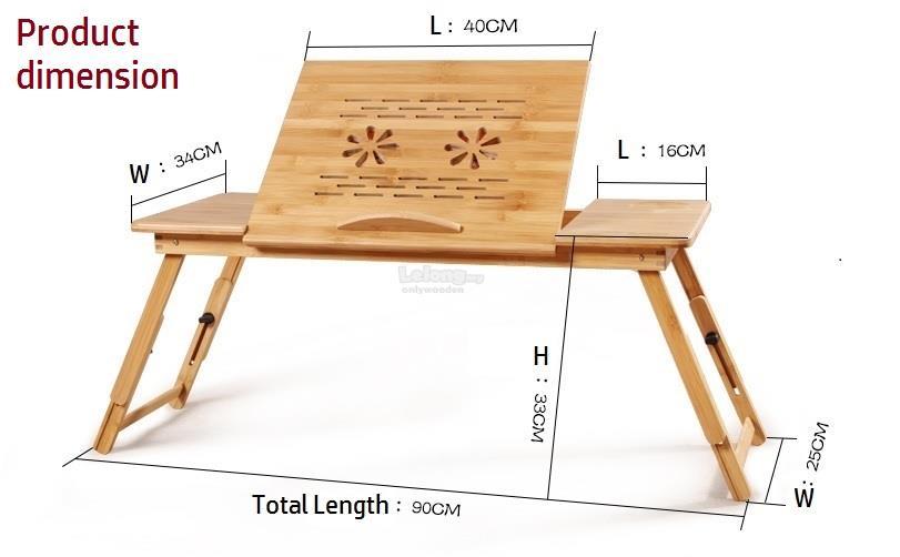 Superbe Wood Foldable Laptop Table, Desktop Table, Portable U0026 Learning Table