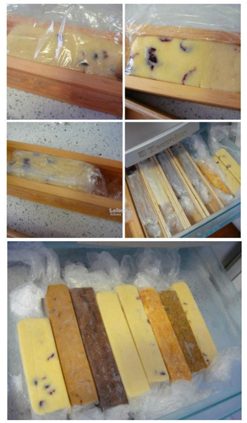 Wooden Cookies Biscuit Mold Mould Shaped cum Box