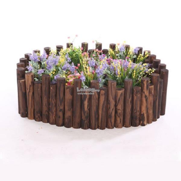 Wooden Flower Round Wood Fence, Barrier, DIY Garden Decoration Shed