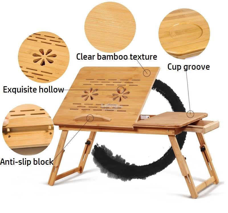 Wooden Foldable Laptop Table, Desktop Table, Portable U0026 Mini Table