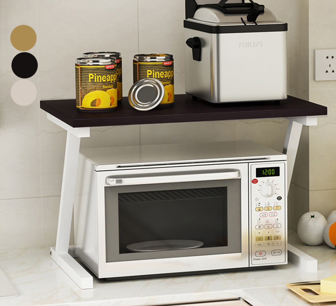 Wooden Kitchen Racks Multi Purpose Storage Rack Microwave Shelves