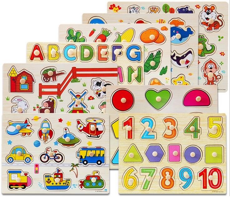 Wooden Learning toys Child Early Education Puzzle Series
