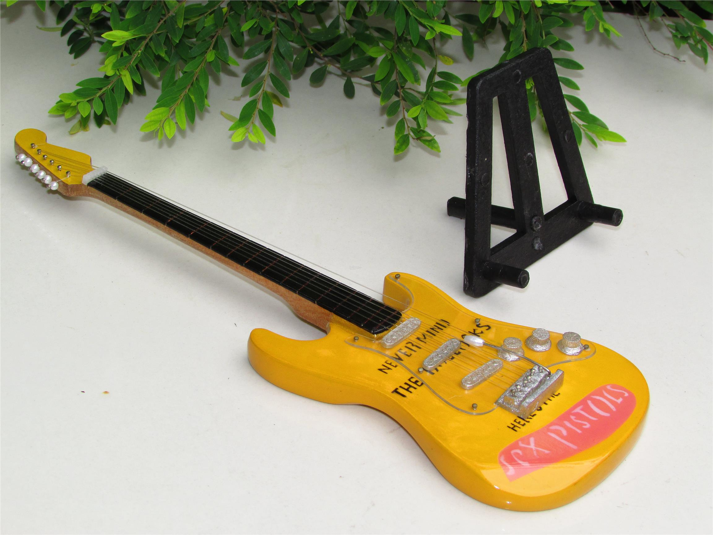 Wooden Miniature Guitar Never Mind the Bollocks, Here's the Sex Pistol