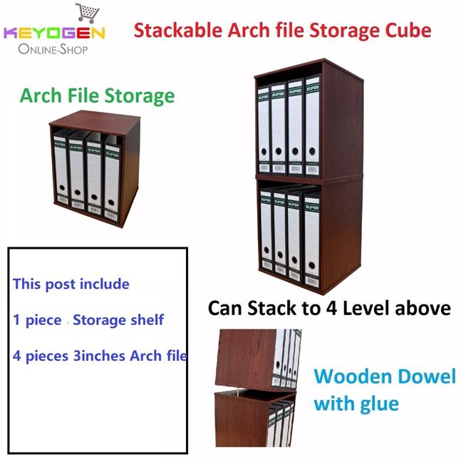 Wooden multipurpose Utility box rack + 4PCS Arch File