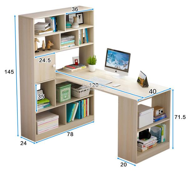 Wooden Office Computer Laptop Desk Study Table Meja Home Buku House